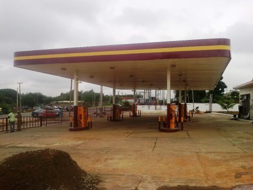 MRS petrol station, New Garage